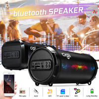 Portable bluetooth Speaker Wireless Waterproof Stereo Bass SD FM TF Radio AUX