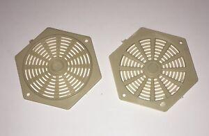 CARAVAN / MOTORHOME - 2 X Hexagonal Vents – Brown - W4 37816