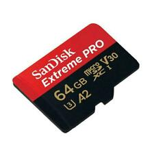 SanDisk 64GB Extreme Pro micro SD SDXC A2 V30 170MB/s UHS-I Memory Card 4K,  NEW