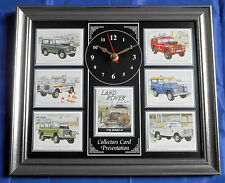 Land Rover Legends Series III Stunning Collector Cards Wall Clock