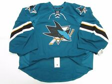 SAN JOSE SHARKS AUTHENTIC HOME TEAM ISSUED REEBOK EDGE 2.0 JERSEY GOALIE CUT 58