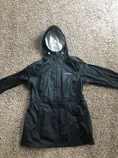 Eddie Bauer Womens Weatheredge Rain Jacket Black Waterproof Coat Large Cinchable