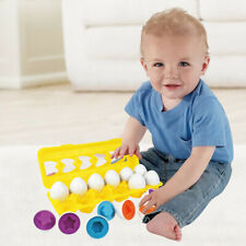 Color & Shape Sorter Matching Egg Set Educational Learning Toy Kids Gift 12pcs