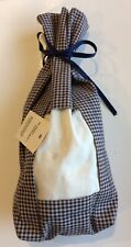 Olde Colonial Tuck-It Gift Bag/Small Gingham Check Print Fabric