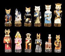 piezas de Ajedrez juego - PERROS vs. Gatos - Ajedrez Figuras Animales Veronese