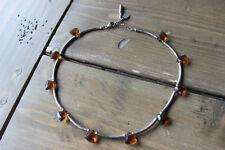 Vintage Tara Anne Designer Sterling Silver Topaz Necklace Size: 15 - 16 inches