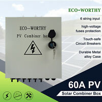 ECO Safe 6 String Solar Combiner Box Surge Lighting Protection For Solar System