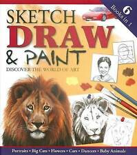 """6 Books in 1 """"Sketch,Draw And Paint""""  Discover the World Of Art  (190 Pages)"""