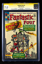 FANTASTIC FOUR #26 (1964) CGC 7.0 SS FN/VF signed by writer STAN LEE!!!  HTF!!!