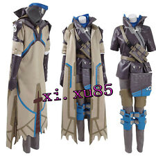 Overwatch OW Ana Captain Amari Cosplay Costume All Size Halloween Clothes Unisex