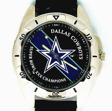 Dallas Cowboys Super Bowl XXX Fossil Vintage New Unworn Leather Band Watch! $149