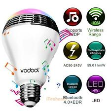 VODOOL 2in1 Color Changing E27 LED Light Bulb With Bluetooth 4.0 Speaker
