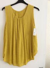 Women's clothes. Mustard Moda Italy sleeveless top BNWT. One size