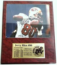 Signed NFL 49ers #80 Jerry Rice Plaque