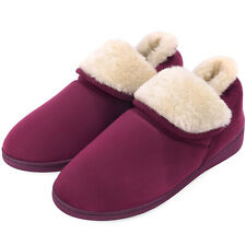 Women Memory Foam Slippers Faux Fur Comfortable Home House Shoes Anti-Skid