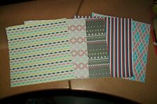 5 SCRAPBOOKING PAPER (A8)  15X15 CM NEW NEW OTHER SIDE WHITE