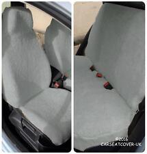 VW Touareg  - GREY SHEEPSKIN Faux Fur Furry Car Seat Covers - Full Set