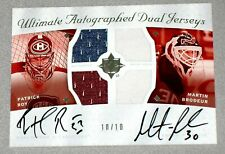 MARTIN BRODEUR & PATRICK ROY 2008-09 UD ULTIMATE DUAL JERSEY AUTOGRAPH 10/10