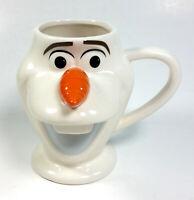 DISNEY OLAF Snowman Frozen movie ceramic coffee cup mug carrot nose - New