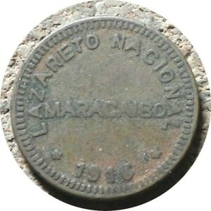 elf Venezuela Maracaibo Lazareto Leper Colony 5 Centimos 1916