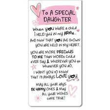 WPL Inspired Words Magnetic Bookmark - To A Special Daughter New IWG1307