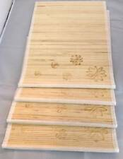 Set of 4 Bamboo Kitchen Placemats Place Mats Dinner Table Decor Party