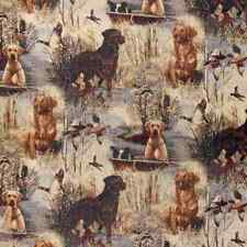 Hunting Dogs Upholstery Fabric Lodge Cabin Rustic La Chasse Tapestry Lab
