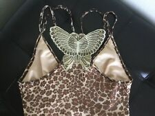 Kookai Embroidered Butterfly w/ Ruffles Animal Print Dress Size 1