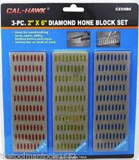 3pc LARGE Diamond Sharpening Hone Stone Whetstone Sharpening Block Kitchen Knife