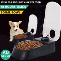 Automatic Pet Dog Cat Feeder Self Feeding Meal Bowl Food Dispenser Timer puppy
