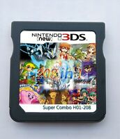 208 in 1 Games Cartridge Multicart For Nintendo DS NDS NDSL NDSi 2DS 3DS