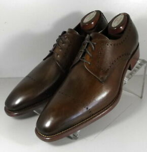 242940 MSi60 Men's Shoes Size 9 M Brown Leather Made in Italy Johnston Murphy