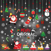 Christmas Santa Removable Window Stickers Festival Art Decal Wall Home Shop Deco
