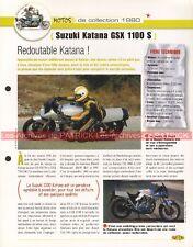 SUZUKI GSX 1100 S KATANA 1980 Joe Bar Team Fiche Moto #008841