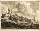 Antique Master Print-LANDSCAPE-HOUSE HUYDECOOPER-Blooteling-Ruisdael-ca. 1670