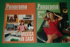 2 allegati PANORAMA 1972/74 MUSICA IN CASA HI-FI GIRADISCHI REGISTRATORI CASSE