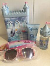 DISNEY CINDERELLA Perfume & Shower Gel Money Box Gift Set & Princess Sunglasses