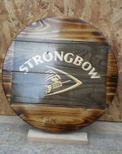 Strongbow cider  plaque wooden sign  mancave shed bar pub