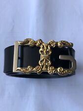 Genuine Mens Dolce And Gabanna Black Belt. length of belt 113cm
