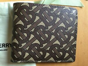 BURBERRY MONOGRAM PRINT MEN*S WALLET 100% AUTHENTIC AND NEW COLLECTIONS + POUCHH