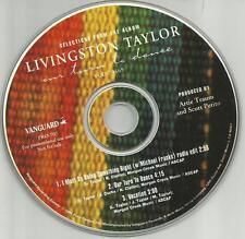 LIVINGSTON TAYLOR w/ MICHAEL FRANKS 3TRK w/ RADIO EDIT PROMO CD single James