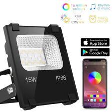 RGB LED Floodlight Bluetooth Control Outdoor Smart Flood Light IP66 Waterproof