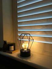 Desk Lamp Black Light Bulb Lantern Battery Operate Metal Metallics Home