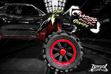 TRAXXAS X-MAXX CHASSIS / SHOCK TOWER PRINTED CARBON FIBER GRAPHICS DECALS RED