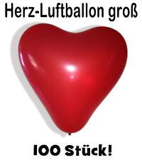 100 Grand Ballon de baudruche en forme coeur gonflables cœur à gonfler
