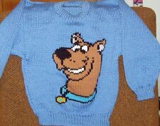 SCOOBY DOO JUMPER  NEW HAND KNITTED SIZE 4-5