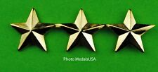 3 Star General Rank gold - collar, shirt, hat, ball cap insignia