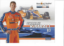 "2013 INDY 500 CHARLIE KIMBALL USA GANASSI RACING INDYCAR 8 ""X 10"" HERO CARD"