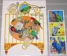 SOMALIA 1999 746-48 Block 59 Papageien Parrots Birds Vögel Fauna Tiere MNH