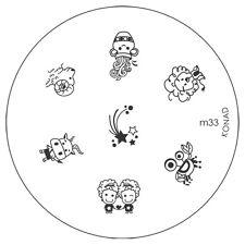 Konad stamping galería de símbolos m33 plate Nails Nail Art Stamp